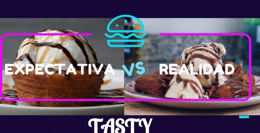 RECETA CHURRO ICE CREAM BOWL DE TASTY  - EXPECTATIVA VS REALIDAD *termina mal*