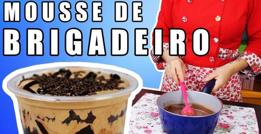 RECHEIO para BOLO de POTE MOUSSE DE BRIGADEIRO