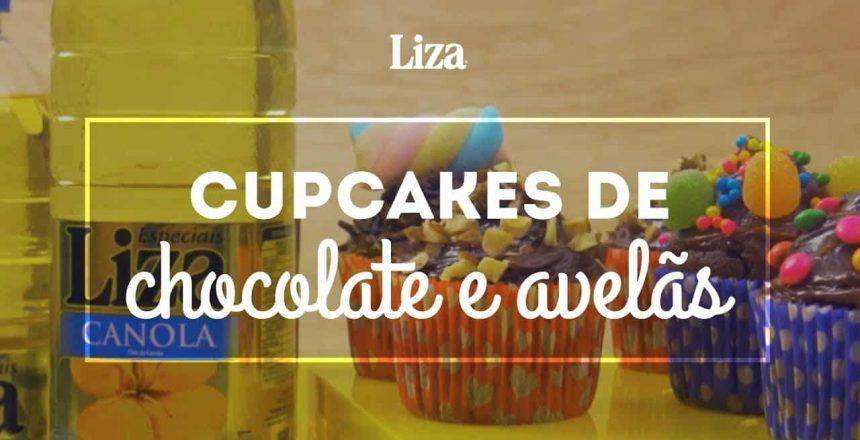 Receita Cupcakes de Chocolate e Avelã | Liza Canola