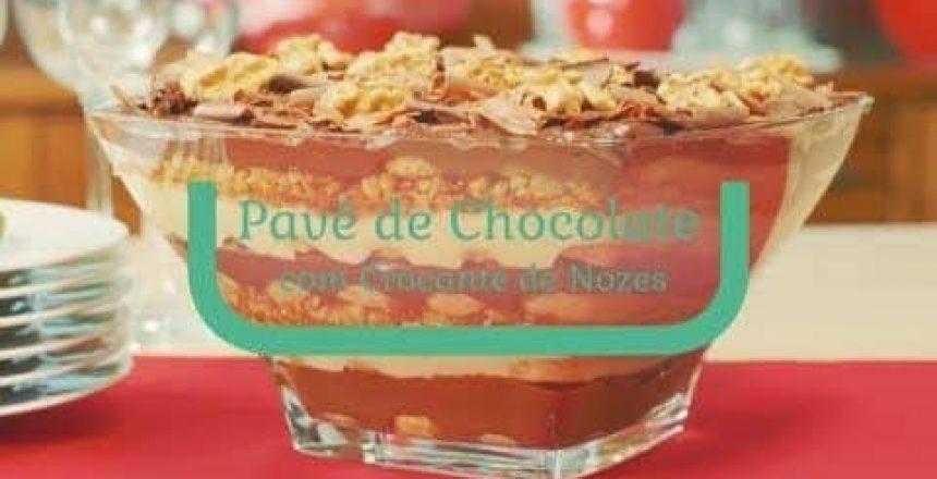 Receita | Pavê de Chocolate com Crocante de Nozes