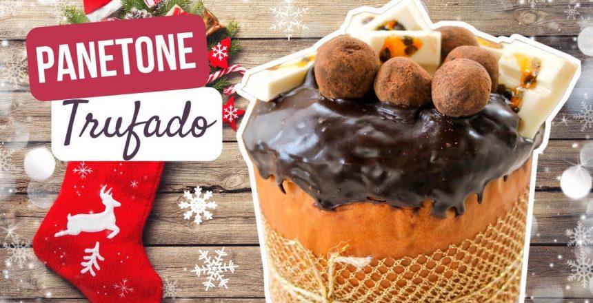Receita de Panetone Trufado de Maracujá e Chocolate 🎄🎅