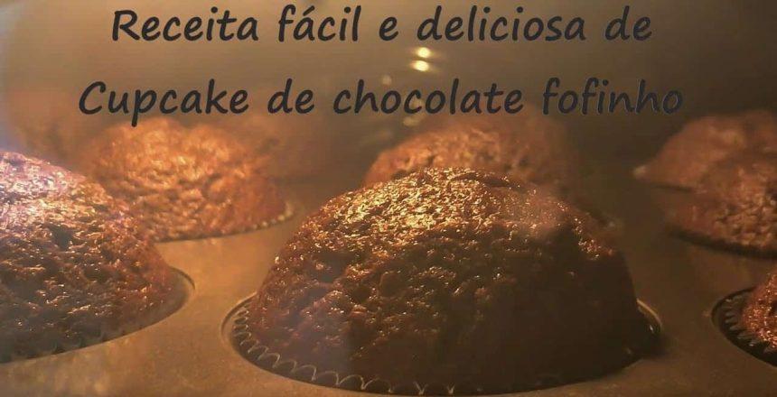 Receita fácil de cupcake de chocolate super fofinho