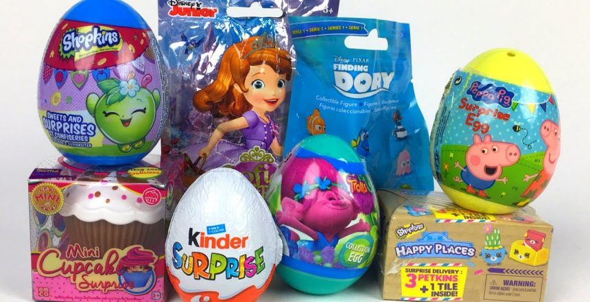 SURPRISES WITH MINI CUPCAKE SOFIA THE FIRST FINDING DORY KINDER SURPRISE PEPPA PIG TROLLS & SHOPKINS