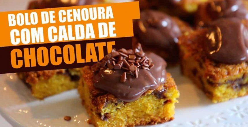 [Sabores] Receita de bolo de cenoura com calda de chocolate