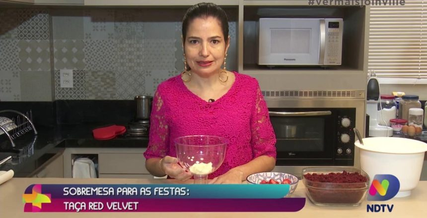 Sobremesa para as festas: taça red velvet