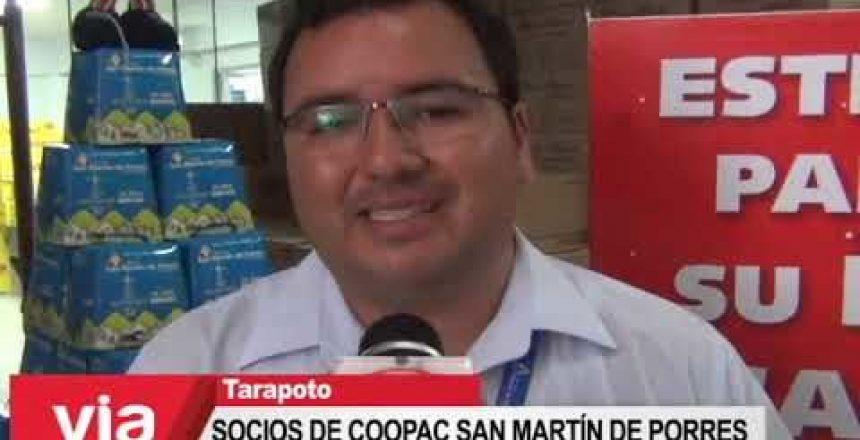 Socios de Coopac San Martín de Porres reciben panetones y calendarios