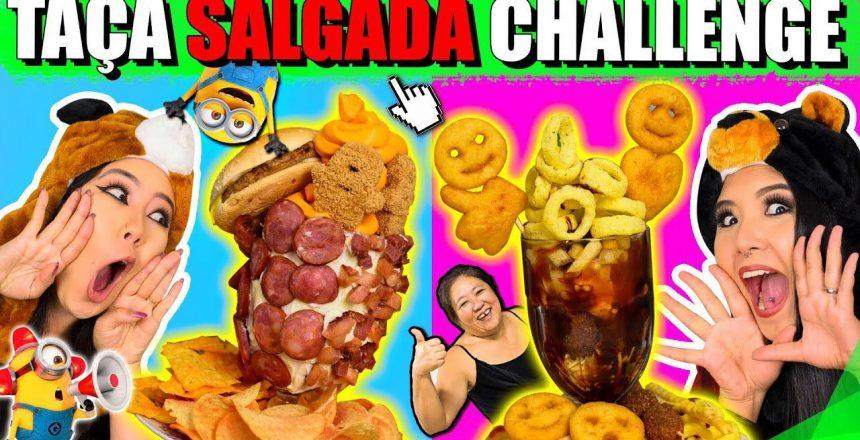 TAÇA SALGADA CHALLENGE (desafio novo) | Blog das irmãs