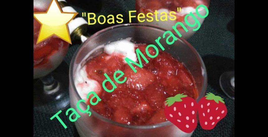 Taça de Morango (Nuvem de Morango) - Sobremesa rápida
