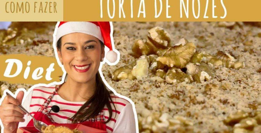 Torta de Nozes sem açúcar - Especial #20 (Receitas de Natal)