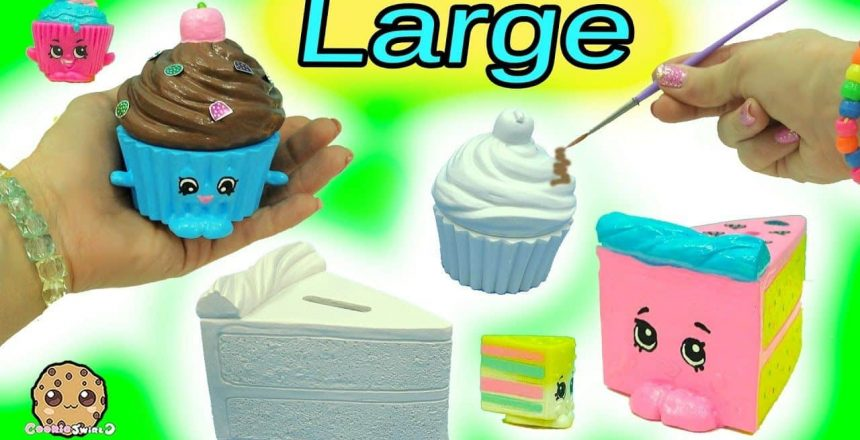 Big Large Inspired Shopkins Made From Cupcake & Cake Slice DIY Painting Craft Kit + Clay