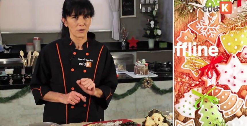 Curso online de Biscoitos e doces decorações de Natal, com Marcela Sanchez - eduK | 1968