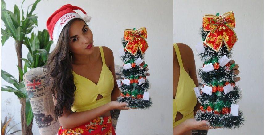 DIY: Árvore de natal de doces | Por: Emilly Vasconcelos