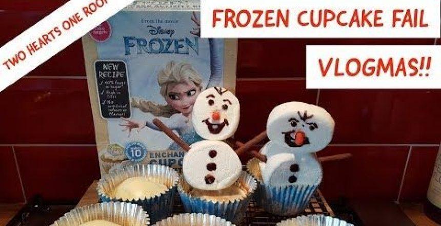 Frozen Cupcake Fail - Vlogmas December 4th