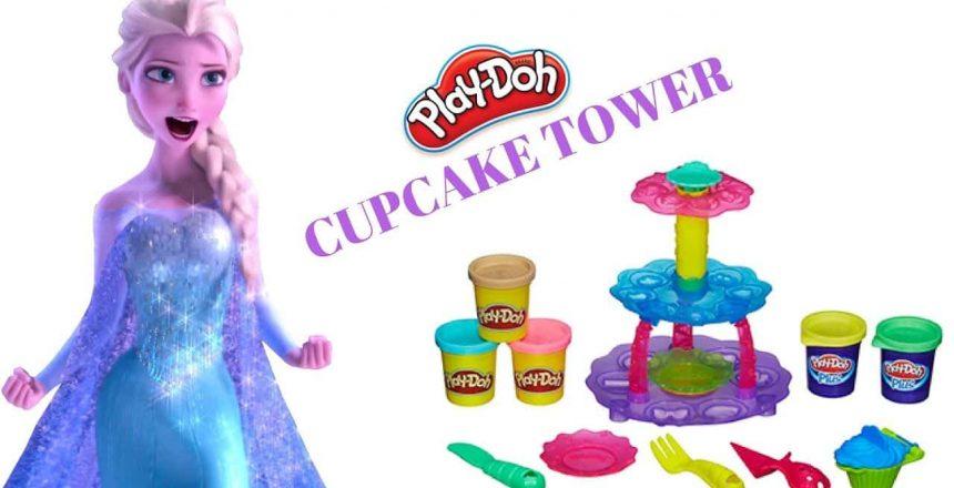 Play Doh Cupcake Tower | Frozen Elsa Play Doh Video