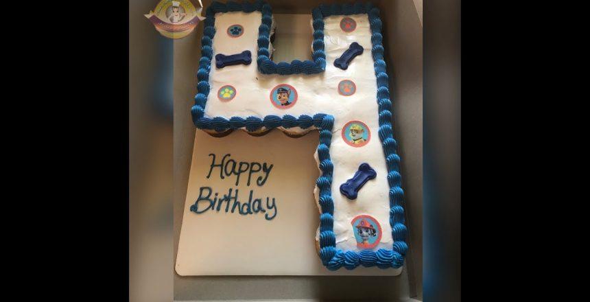 #pull-Apart cupcakes Pastel de cupcake en forma de numero