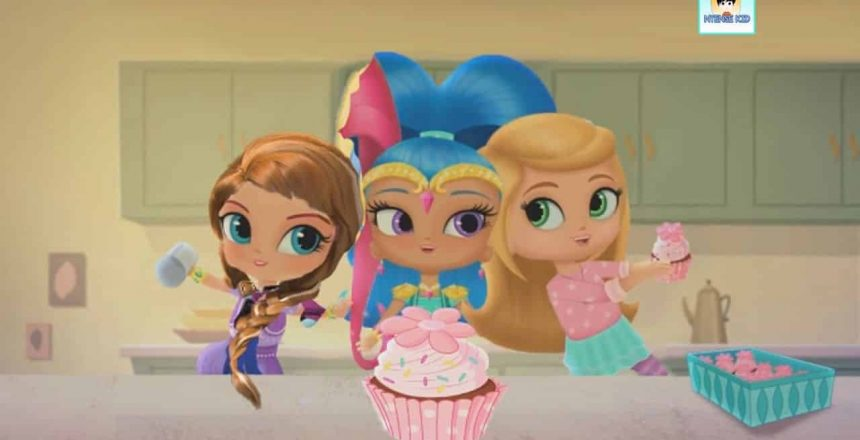 Shimmer and Shine Cupcake Episode Disney Color Frozen and Cinderella